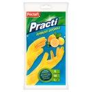 Paclan Practi Rubber Gloves Lemon Aroma Size L