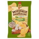 Wiejskie Ziemniaczki Chipsy ziemniaczane o smaku cebulki 130 g