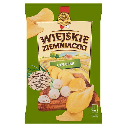 Wiejskie Ziemniaczki Potato Crisps with Onion Flavour 130 g