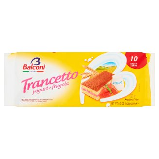 Balconi Trancetto Yogurt e Fragola Strawberry Cake 280 g (10 Pieces)