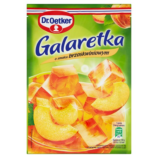 Dr. Oetker Peach Flavoured Jelly 77 g