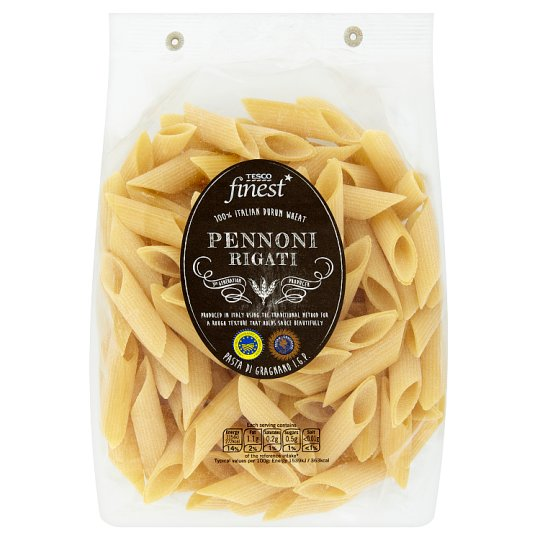 Tesco Finest Pennoni Rigati Dried Pasta made from Durum Wheat Semolina 500 g