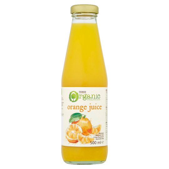 Tesco Organic BIO Sok pomarańczowy 500 ml
