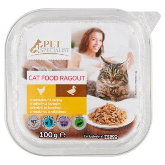 Tesco Pet Specialist Ragout with Chicken and Duck Food for Adult Cats 100 g