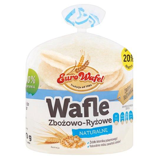 Eurowafel Wafle zbożowo-ryżowe naturalne 70 g (12 sztuk)