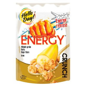 Hello Day! Energy crunch Chrupiące płatki z bananami 225 g
