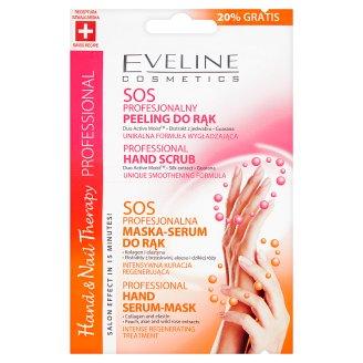 Eveline Cosmetics Hand & Nail Therapy Professional SOS Peeling i maska-serum do rąk 2 x 6 ml