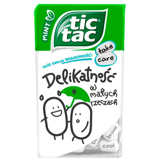 Tic Tac Mint Flavoured Sugar Coated Sweets 49 g