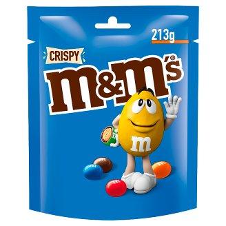 M&M's Crispy Cukierki z mlecznej czekolady z kruchym ryżowym wnętrzem 213 g