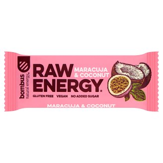 Bombus Raw Energy Maracuja & Coconut Fruit Bar 50 g