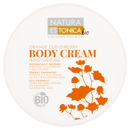 Natura Estonica Bio Moisturizing Body Cream Orange Cloudberry 300 ml
