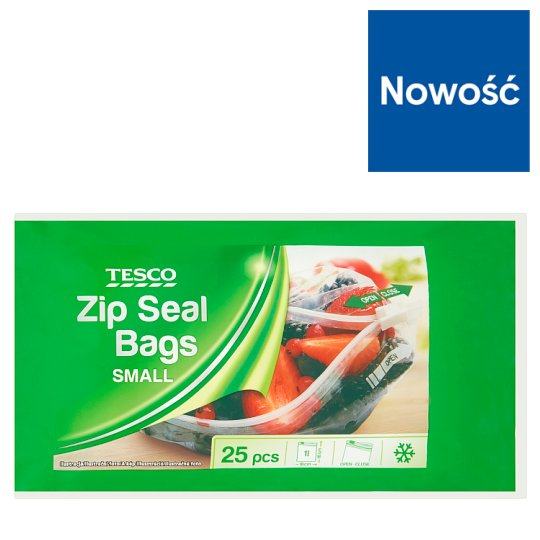 Tesco Small Zip Seal Bags 25 Pieces