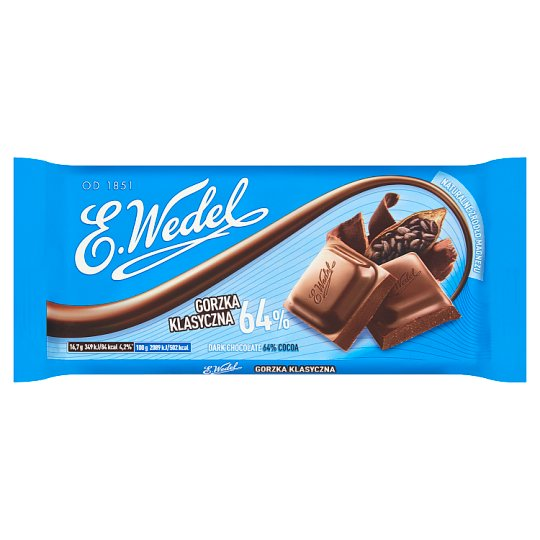 E. Wedel Dark Chocolate 64% Cocoa 100 g