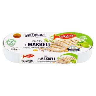 GRAAL Grilled Mackerel Fillets with Extra Virgin Olive Oil 120 g
