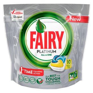 Fairy Platinum Dishwasher Tablets LEmon 10 per pack