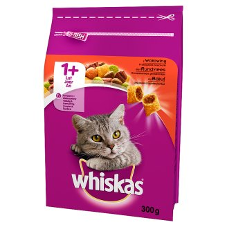 Whiskas 1+ Year Delicious Patties with Beef Complete Cat Food 300 g