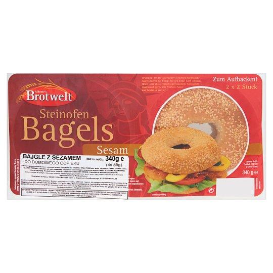 Aldente's Brotwelt Sesame Bagels 340 g (2 x 2 Pieces)