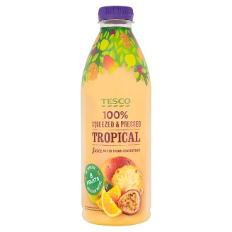 Tesco 100% Squeezed & Pressed Tropical Juice Never from Concentrate 1 L