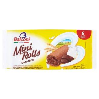 Balconi Mini Rolls Chocolate Chocolate Mini Rolls 180 g (6 Pieces)