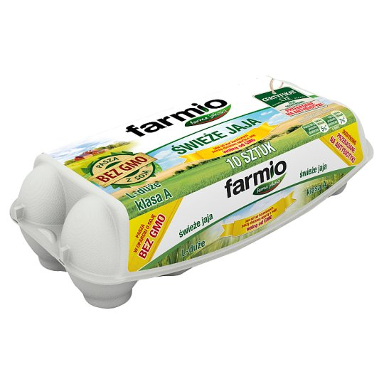 Farmio GMO-Free Fresh Eggs L 10 Pieces