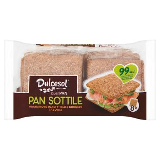 Dulcesol Pan Sottile Ground Whole Wheat Bread 310 g (8 Pieces)