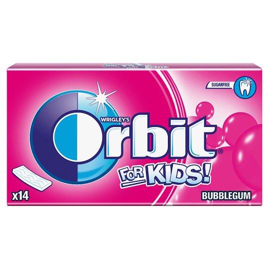 Orbit For Kids Classic Sugarfree Fruit Flavoured Bubble Gum 27 g (14 Pieces)