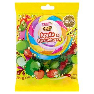 Tesco Candy Carnival Apple & Strawbery Karmelki musujące o smaku jabłkowym i truskawkowym 100 g