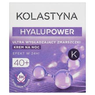 Kolastyna HyaluPower 40+ Ultra wygładzający zmarszczki krem na noc 50 ml