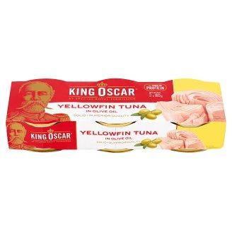 King Oscar Tuńczyk żółtopłetwy w oliwie z oliwek 3 x 80 g