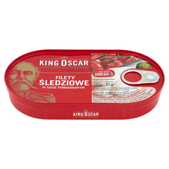 King Oscar Herring Fillets in Tomato Sauce 170 g