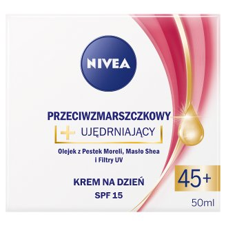 image 1 of NIVEA Anti-Wrinkle + Firming Day Cream SPF 15 45+ 50 ml