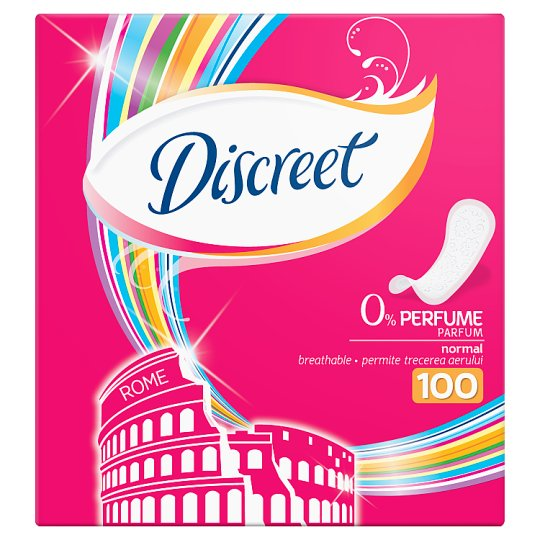 Discreet Normal Non Scented Panty Liners 100X