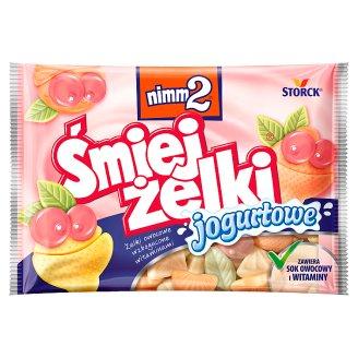 nimm2 Śmiejżelki jogurtowe Żelki owocowe wzbogacone witaminami 100 g