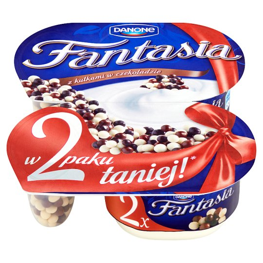Danone Fantasia Creamy Yoghurt with Balls in Chocolate 200 g (2 Pieces)