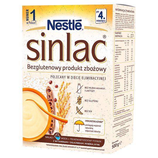 Nestlé Sinlac Gluten Free Cereal Product after 4 Months Onwards 500 g