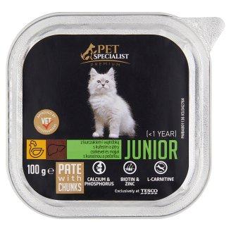 Tesco Pet Specialist Premium Karma dla młodych kotów pasztet z kurczakiem i wątróbką 100 g