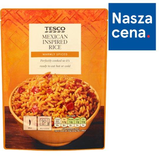 Tesco Ryż biały długoziarnisty z czerwoną papryką pomidorami i papryczką chili jalapeño 250 g