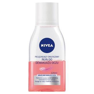 NIVEA Pielęgnujący dwufazowy płyn do demakijażu oczu 125 ml