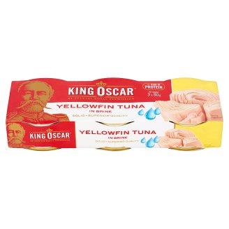King Oscar Tuńczyk żółtopłetwy w sosie własnym 3 x 80 g
