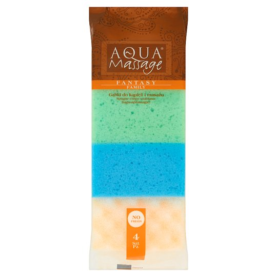 Aqua Massage Fantasy Family Bath and Massage Sponges 4 Pieces