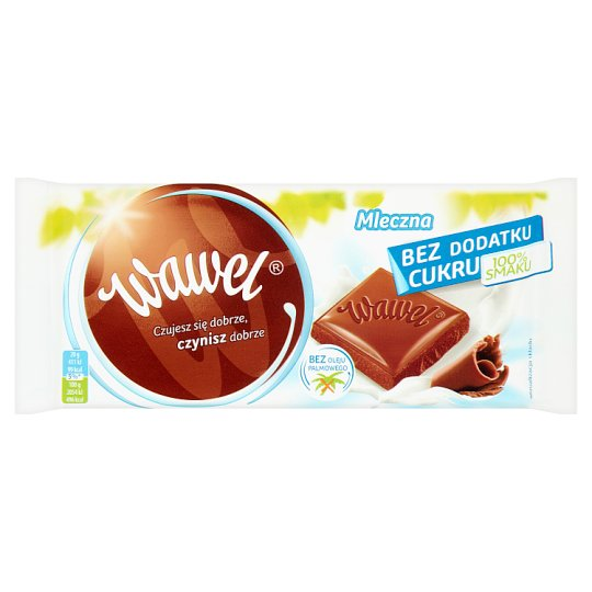 Wawel Mleczna No Added Sugar Milk Chocolate 100 g