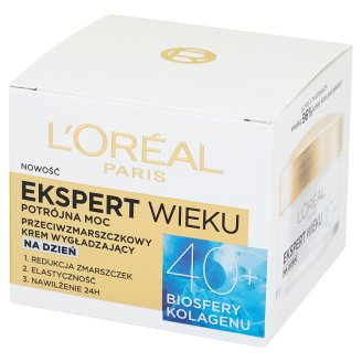 L'Oreal Paris Ekspert Wieku 40+ Triple Power Anti-Wrinkle Smoothing Day Cream 50 ml