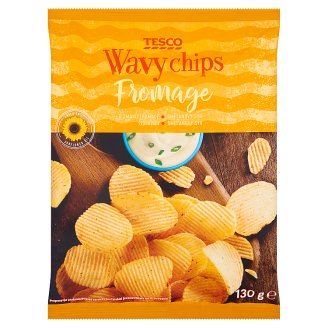 Tesco Fromage Flavour Wavy Chips 130 g