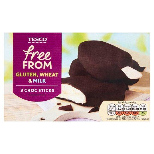 Tesco Free From Bezmleczny mrożony deser waniliowy w polewie czekoladowej 300 ml (3 x 100 ml)