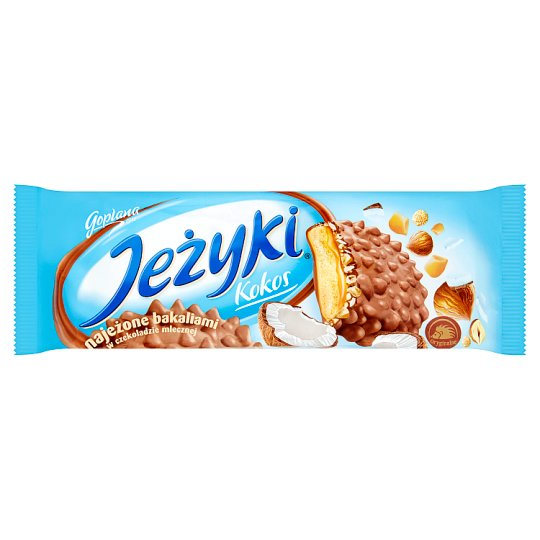 Jeżyki Kokos Biscuits in Milk Chocolate 140 g