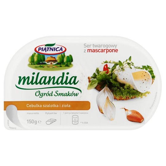 Piątnica Milandia Ogród Smaków Cottage Cheese with Mascarpone Shallot Onion and Herbs 150 g