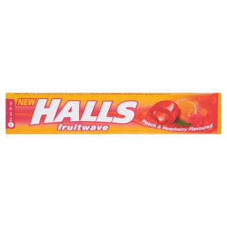 Halls Fruitwave Peach & Raspberry Flavoured Candies 45 g