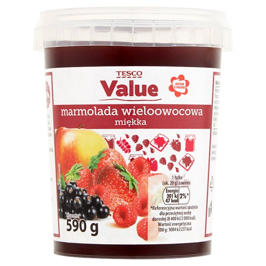 Tesco Value Soft Multifruit Marmelade 590 g