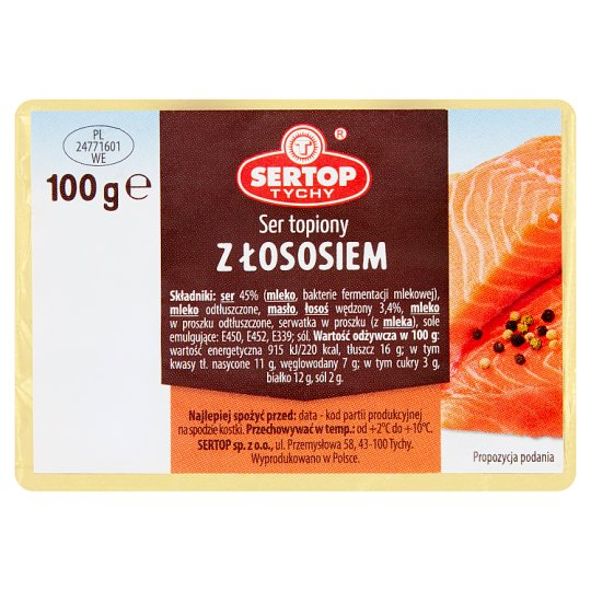Sertop Tychy Creamy Spread Cheese with Salmon 100 g