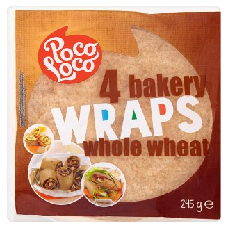 Poco Loco Whole Wheat Bakery Wraps 245 g (4 Pieces)